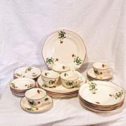 SOLD Vintage Collectible (5) Place Setting Homer Laughlin Pattern #9203 30Pcs 15 Extra Pcs 192