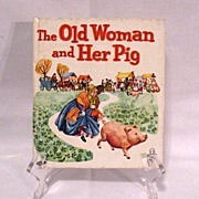 SOLD Vintage Whitman Tell-a-Tales Book The Old Woman & Her Pig Very Good Condition 1964
