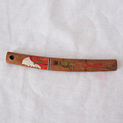 SOLD Vintage Collectible Japanese Sword & Sheath Letter Opener American Indian Motif Excellent