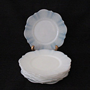 (7) Vintage Collectible MacBeth-Evans Bread & Butter Plates American Sweetheart Pattern Monax