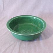 SALE Vintage Homer Laughlin Green Fiesta Nappy Bowl 8 1/2 Inches 1936-69 Mint Condition