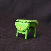 SOLD Vintage Mattel Doll House Furniture Metal Drop Leaf Table 1980 Excellent Condition