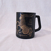 Vintage Collectible Zodiac Cup For Capricorn Individuals by Federal Glass Co 1960-70s Excellen