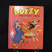 SALE Vintage Harvey Cartoon Character Buzzy The Funny Crow 1963 Like New Condition Wonder Book