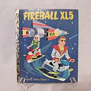 SALE Vintage Collectible Little Golden Book Fireball XL5 First Edition 1964 Very Good Conditio