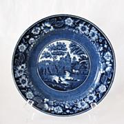 SALE Vintage Collectible  Petrus Regout Maastricht 9 Inch Flo Blue Charger Plate 1920-30s ...