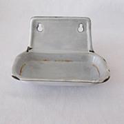 Vintage Graniteware Soap Holder 1920-40s Excellent Vintage Condition