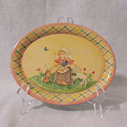 SOLD Vintage Child's Tin Plate Made In Holland 1950s Very Good Condition
