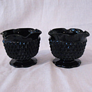 Vintage Tiara Cameo Black Single Lite Candle Holders 1970-80s Diamond Pattern Like New ...