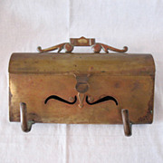 SALE Fantastic Vintage Horizontal Brass Mail Box 1950-60s Very Good Vintage Condition