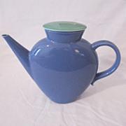SALE Vintage Collectible Lindt-Stymeist Colorways Blue Oval Tea Pot with Lid Mint Condition