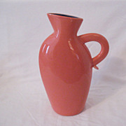 SALE Vintage Collectible Lindt-Stymeist Colorways Salmon 10 1/2 Inch Pitcher/Vase Mint Conditi