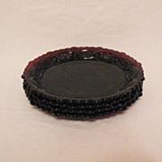 Vintage Cape Cod Ruby Glassware (4) Dessert Plates 1980-90 Like New Condition