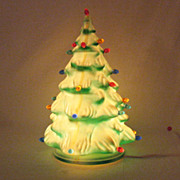 SALE Vintage Molded Plastic Christmas Tree with 27 Prisms Lights 1950-60s Very Good Vintage ..