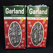 SOLD Vintage Two Boxes of Garland 20 Feet Tarnish Proof/Flame Proof Decorations 1950-60s Very