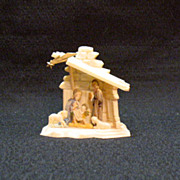 Vintage Miniature Plastic Nativity Scene Made in Hong Kong 1950s Very Good Condition