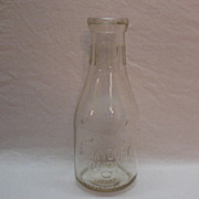 SOLD Vintage Hunky Dory Quart Embossed Dairy Milk Bottle 1920-40s Excellent Condition