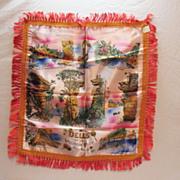 Vintage Wisconsin Dells Souvenir Pillow Sham 1950-60s Very Good Condition