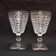 SALE Vintage Imperial Glass Co. 2 Monticello Water Goblets 1920-60s Very Good Condition