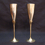 SALE Vintage Solid Brass Goblets 1950s Very Good Condition