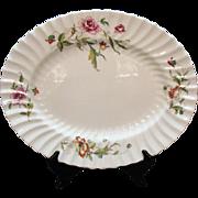 SALE Vintage Royal Doulton Fine Bone China 16 ¾ Inch Oval Platter Clovelly Pattern Very ...