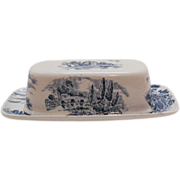 SALE Vintage Wedgwood Countryside ¼ Lb Butter Dish Like New