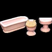 SOLD Vintage Porcelain Doll House Bathroom Fixtures Japan 1950s Excellent Condition