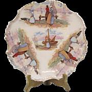 SALE Vintage Plate Dutch Scene Early 1900s Glazed