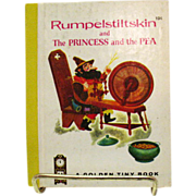 A Vintage Golden Tiny Book Rumpelstiltskin & The Princess & The Pea 1962 Very Good Condition