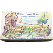 SALE Vintage Mother Goose Shoes Shoe Box 1954 Good Condition
