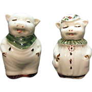 SALE Vintage Pair of Shawnee Small Pig Shakers 1940-50s Very good Condition