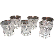 SALE Vintage Fostoria Crystal Coin Glass Juice/Old fashion 9 oz. Tumblers 1958-82 Excellent ..