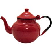 SOLD Vintage Graniteware/Enamelware 1 Cup Teapot Excellent Condition