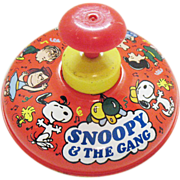 SOLD Vintage Snoopy Spinning Top by Ohio Art Toy  Co 1966 Good Condition
