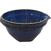 SALE Very Old McCoy Blue Crock Bowl with Spout 1920-30s Very Good Condition