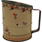 SALE Hall's Red Poppy Metal Flour Sifter 1933-53 Good Condition