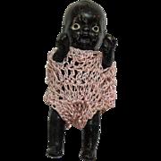 SALE Vintage Black Americana Black Miniature Ceramic Doll 1950s Very Good Condition