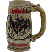 SOLD Vintage Budweiser Promotional Advertising Beer Stein 1980s Very Good Condition