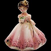 SALE Vintage Black Eyed Josef Original Lady Figurine 5 ½ Inches Very Good Condition
