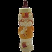 Vintage Hard Plastic Figurine 1973 Baby Bottle Wa Wa the Raccoon Very Good Condition