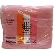 SOLD Vintage Beacon Mfg. Co Pink Blanket Acrylic Needle woven New in Package 72x90 Like New Co