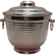 SOLD Vintage Hammered Aluminum Ice Bucket 1950s Made in Italy Very Good Condition