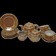 Vintage Japan Lusterware Tea Set 1950s good Condition