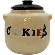 SOLD American Bisque Cookies Cookie Jar 1950-60s Good Condition