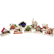 SALE Vintage 9 Putz Houses 1930s Good Condition