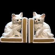 SOLD Vintage Lefton Cat Bookends 1953-71 Mint Condition