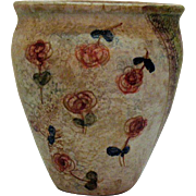 Vintage Italian Ceramic Wall Pocket Floral Motif 1960s Good Condition
