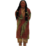 Vintage Skookum Indian Brave 16 ½ inches tall Very Good Condition 1940-50s