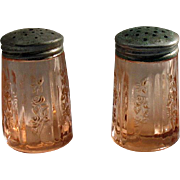 Vintage Federal Glass Co. Pink Depression S&P Shakers Sharon/Cabbage Pattern 1935-39 Very ...