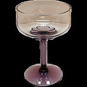 Vintage (13) Fostoria Champagne/Tall Sherbet Amethyst Base & Stem Corsage Plum Pattern 1970s V